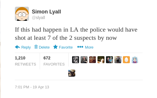 Manhunt Tweet
